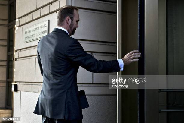 Rick Gates former deputy campaign manager for Donald Trump walks into the US Courthouse for a status conference in Washington DC US on Monday Dec 11...