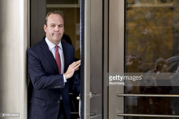 Rick Gates former deputy campaign manager for Donald Trump walks out of the US Courthouse after a bond hearing in Washington DC US on Monday Nov 6...