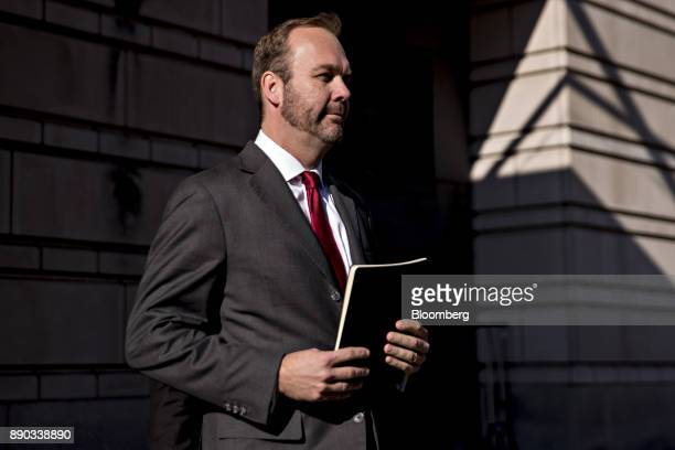 Rick Gates former deputy campaign manager for Donald Trump walks to his vehicle after a status conference at the US Courthouse in Washington DC US on...