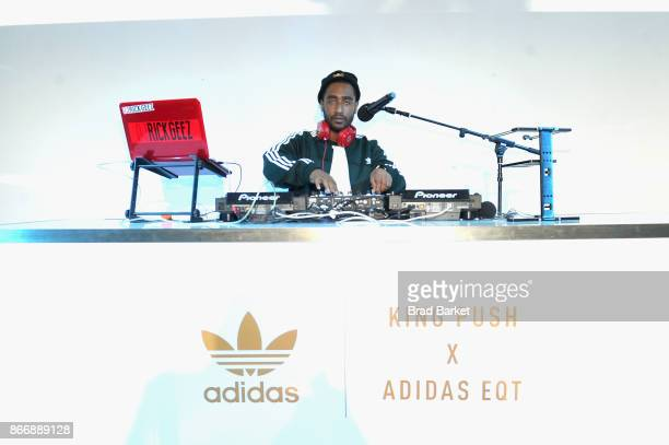 Rick Geez Djs at the Launch Of Pusha T's Latest Collaboration With adidas Originals KING PUSH X ADIDAS ORIGINALS EQT 'BODEGA BABIES' on October 26...