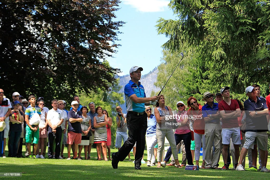 Rick Gibson of Canada in action during the final round of the Bad Ragaz PGA Seniors Open played at Golf Club Bad Ragaz on July 6, 2014 in Bad Ragaz, Switzerland.