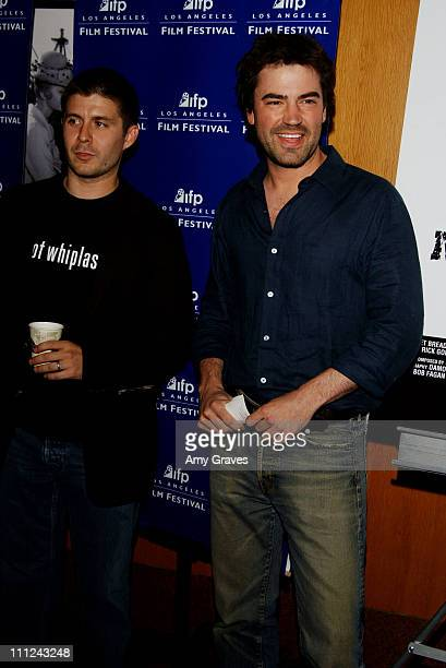 Rick Gomez and Ron Livingston during Last Man Running World Premiere at the Los Angeles Film Festival at Directors Guild of America in Los Angeles...