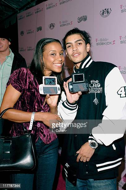Rick Gonzales and guest during TMobile Sidekick II Custom Series Launch Party Red Carpet at TMobile Sidekick II City in Los Angeles California United...
