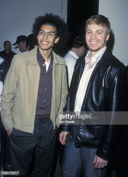 Rick Gonzalez and Angelo Spizzirri attend the premiere of 'The Rookie' on March 26 2002 at the Astor Plaza Theater in New York City
