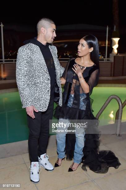 Rick Gonzalez and Jhene Aiko attend Harper's BAZAAR and the CDG Celebrate Top Costume Designers and Nominees of the 20th CDGA with an Event Presented...
