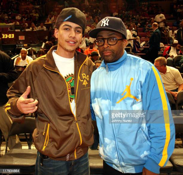 Rick Gonzalez and Spike Lee during the Brand Jordan AllAmerican Game at Madison square Garden New York on April 21 2007