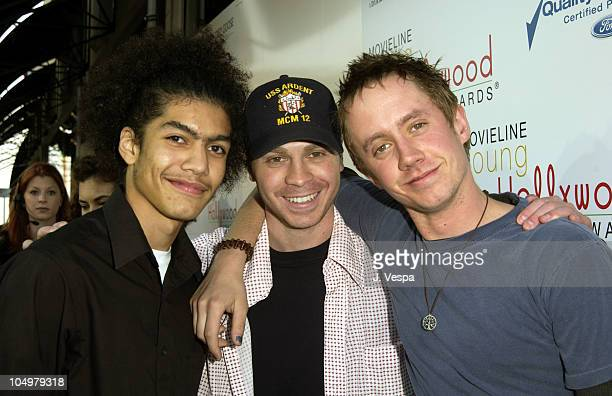 Rick Gonzalez Angelo Spizzirri and Chad Lindberg during Movieline's 4th Annual Young Hollywood Awards Arrivals at The Highlands in Hollywood...