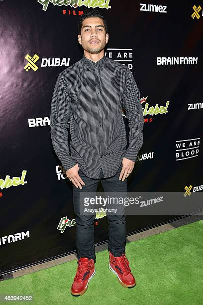 Rick Gonzalez attends the premiere of Mountain Dew Green Label Films' 'We Are Blood' arrivals at The Theatre At The Ace Hotel on August 13 2015 in...