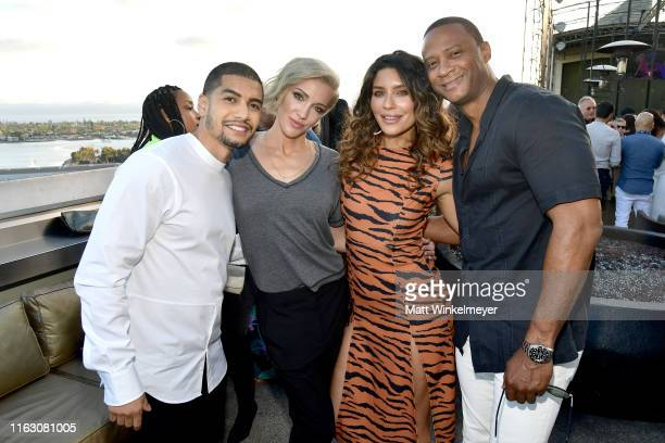 Rick Gonzalez, Katie Cassidy, Juliana Harkavy and guest at BuzzFeed Presents: A Batsh!t Crazy Bash With The CW's Batwoman at San Diego Marriott...