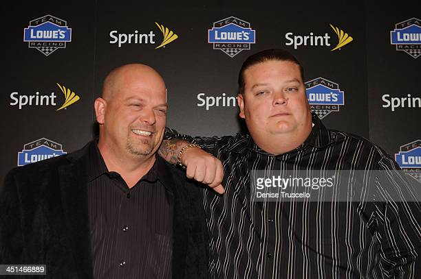 Rick Harrison and Corey Harrison arrive at the NASCAR SPRINT Cup party at Lavo at the Palazzo on December 4 2009 in Las Vegas Nevada