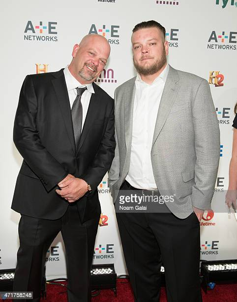 Rick Harrison and Corey Harrison attend the 2015 A+E Network Upfront at Park Avenue Armory on April 30, 2015 in New York City.