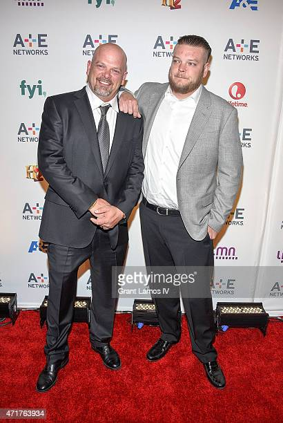 Rick Harrison and Corey Harrison attend the 2015 AE Networks Upfront on April 30 2015 in New York City