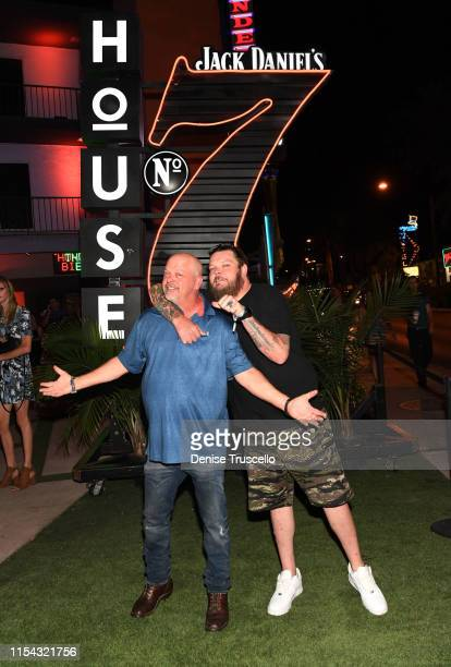 Rick Harrison and Corey Harrison attend the Jack Daniel's House No. 7 party on July 6, 2019 in Las Vegas, Nevada.