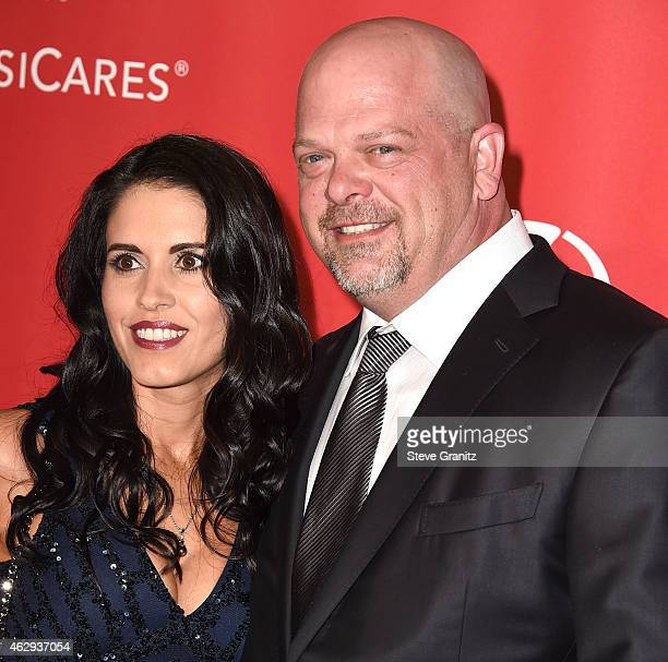 Rick Harrison and DeAnna Burditt arrives at the MusiCares Person Of The Year Tribute To Bob Dylan on February 6 2015 in Los Angeles California