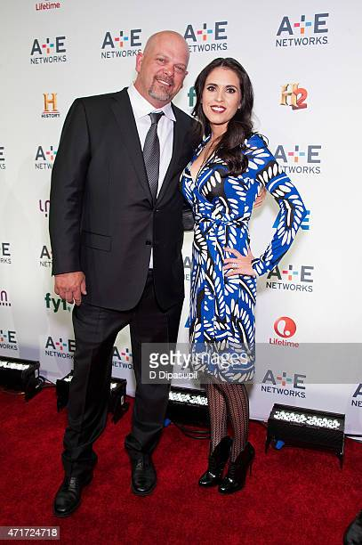 Rick Harrison and Deanna Burditt attend AE Network's 2015 Upfront at Park Avenue Armory on April 30 2015 in New York City