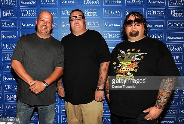 Rick Harrison Corey Harrison and Chumlee from History Channel's Pawn Stars arrive at the Vegas Magazine's 7th Anniversary party at Surrender...