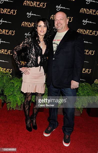Rick Harrison from History's ÒPawn StarsÓ television series and Deanna Burditt arrive for the grand opening celebration at Andrea's at the Wynn Las...
