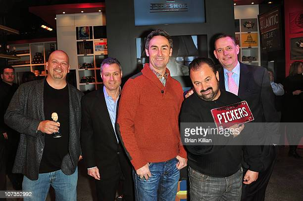 Rick Harrison from Pawn Stars Steve Ronson EVP of Enterprises for AETN Mike Wolfe and Frank Fritz from American Pickers and David McKillop SVP of...