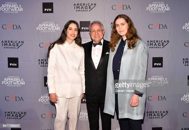 Rick Helfenbein President and CEO AAFA with Floriana Gavriel and Rachel Mansur CoFounders and Creative Directors of Mansur Gavriel recepients of...