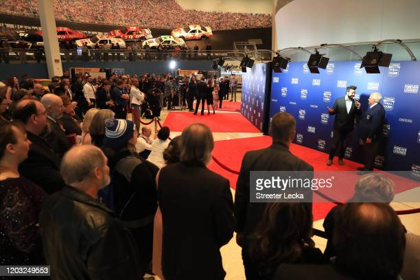 Rick Hendrick speaks on the red carpet before the NASCAR Hall of Fame Induction Ceremony at the NASCAR Hall of Fame on January 31 2020 in Charlotte...