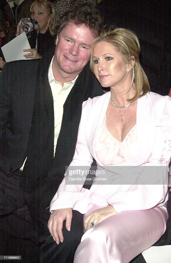 Rick Hilton and Kathy Hilton during Mercedes Benz Fashion Week Fall 2003 Collections - Luca Luca - Front Row at Bryant Park in New York City, New York, United States.