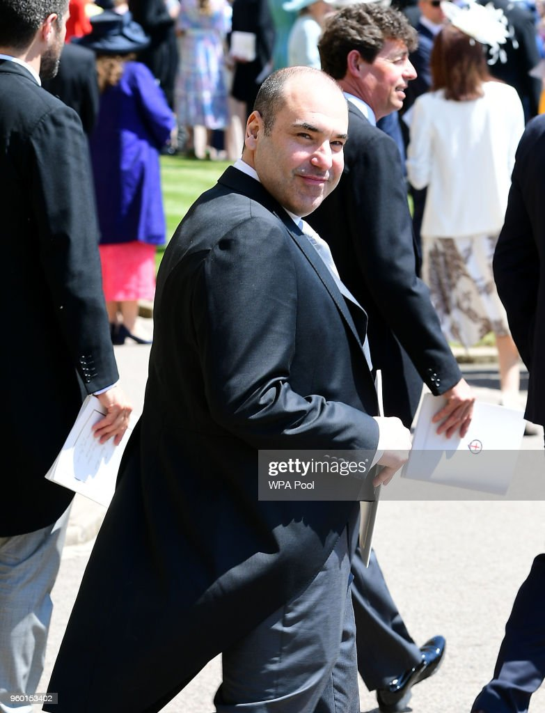 Rick Hoffman arrive at St George's Chapel at Windsor Castle before the wedding of Prince Harry to Meghan Markle on May 19, 2018 in Windsor, England.