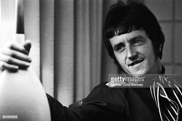 Rick Huxley guitarist for The Dave Clark Five relaxes in a hotel before a concert circa 1965 in Los Angeles California