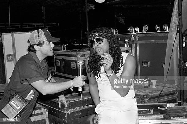 Rick James backstage at the Jamaica World Music Festival in Montego Bay Jamaica on November 27 1982