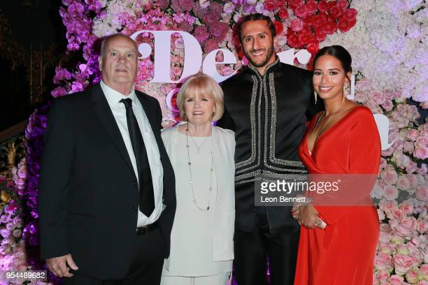 "Rick Kaepernick, Teresa Kaepernick, Colin Kaepernick and Nessa attend the VH1's 3rd Annual ""Dear Mama: A Love Letter To Moms"" - Cocktail Reception at..."