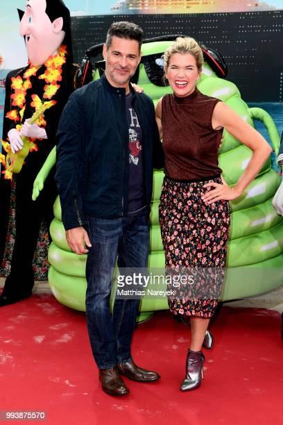 Rick Kavanian and Anke Engelke attend the 'Hotel Transsilvanien 3' premiere at CineStar on July 8 2018 in Berlin Germany
