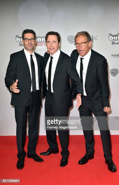 Rick Kavanian Michael Bully Herbig and Christian Tramitz during 'Bullyparade Der Film' premiere at Mathaeser Filmpalast on August 13 2017 in Munich...