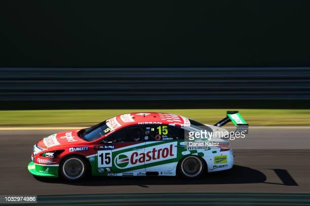 Rick Kelly drives the Nissan Motorsport Nissan Altima during practice for the Supercars Sandown 500 at Sandown International Motor Raceway on...