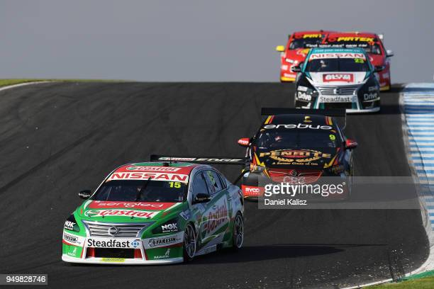 Rick Kelly drives the Nissan Motorsport Nissan Altima during race 10 for the Supercars Phillip Island 500 at Phillip Island Grand Prix Circuit on...