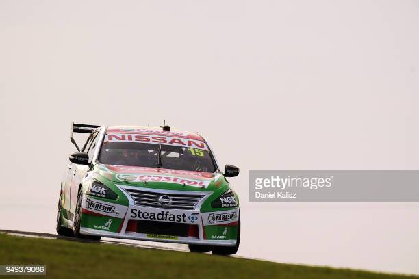 Rick Kelly drives the Nissan Motorsport Nissan Altima during the Supercars Phillip Island 500 at Phillip Island Grand Prix Circuit on April 21 2018...