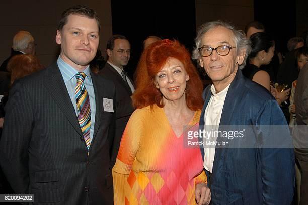 Rick Kinsel, Jeanne-Claude and Christo attend In Memoriam: Jeanne-Claude Denat de Guillebon 1935 ñ 2009 at Steven Kasher Gallery on February 15, 2008...
