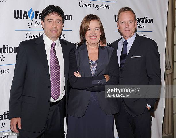 Rick Krim Executive VP of Talent and Music for VH1 Judy McGrath and Keifer Sutherland attend the 2012 UJAFederation Music Visionary of the Year Award...