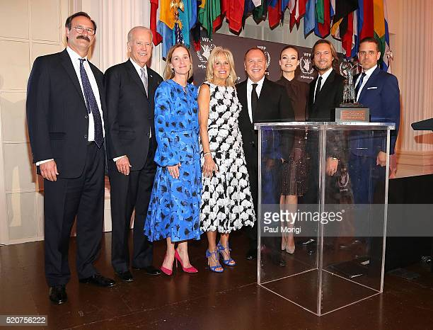 Rick Leach US Vice President Joe Biden Kathleen Biden Dr Jill Biden honoree designer Michael Kors actress Olivia Wilde Lance Le Pere and Hunter Biden...