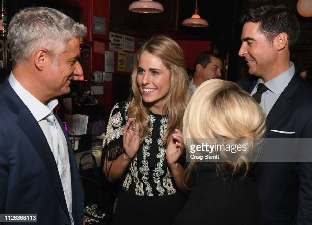 Rick Leventhal Jillian Cardarelli Dana Perino and Jesse Watters attend the after party for Jillian Cardarelli's performance at Rockwood Music Hall on...