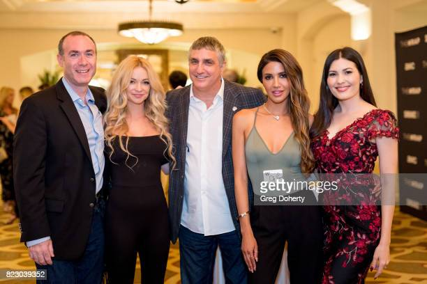 Rick Licht Actress Mindy Robinson Strategic Media Technology Advisor Spence Bovee and Actresses CJ Franco and Celeste Thorson attend TheGrill Special...