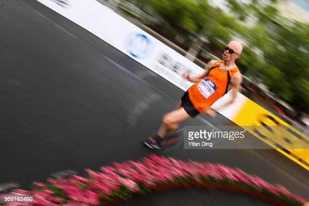 Rick Liesting of Netherland in action during Men's 20 kilometres Race Walk of IAAF World Race Walking Team Championships Taicang 2018 on May 6 2018...