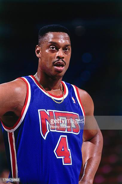 Rick Mahorn of the New Jersey Nets looks on against the Sacramento Kings on November 28 1992 at Arco Arena in Sacramento California NOTE TO USER User...