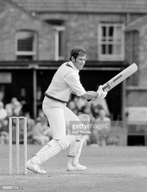 Rick McCosker batting for Australia against Northamptonshire in the touring match at the County Ground in Northampton 19th July 1977 The match ended...