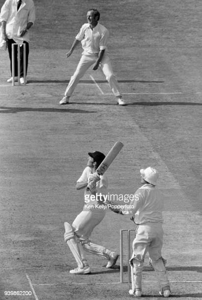 Rick McCosker batting for Australia during his innings of 127 runs in the 4th Test match between England and Australia at The Oval London 28th August...