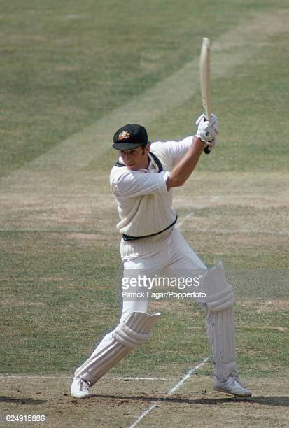 Rick McCosker batting for Australia during the World Cup warmup match between Middlesex and the Australians at Lord's Cricket Ground London 1st June...