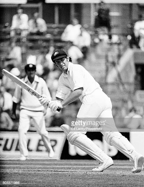 Rick McCosker batting for Australia during their Prudential World Cup match against Sri Lanka at the Kennington Oval in London 11th June 1975...