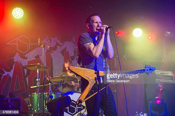 Rick McMurray and Tim Wheeler of Ash perform onstage at The Limelight on June 8 2015 in Belfast United Kingdom