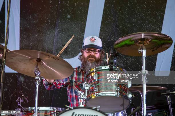Rick McMurray of Ash performs on the King Tut's Stage on the third day of TRNSMT Festival 2021 on September 12, 2021 in Glasgow, Scotland.