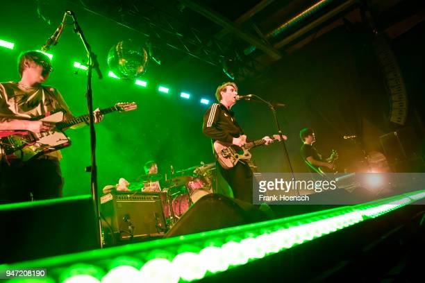 Rick McPhail Arne Zank Dirk von Lowtzow and Jan Mueller of the German band Tocotronic perform live on stage during a concert at the Columbiahalle on...