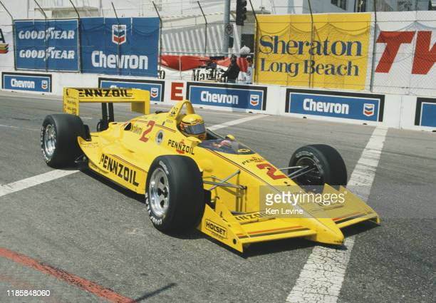 Rick Mears of the United States drives the Team Penske Pennzoil Penske PC19 Chevrolet 265A V8t during the Championship Auto Racing Teams 1990 PPG...