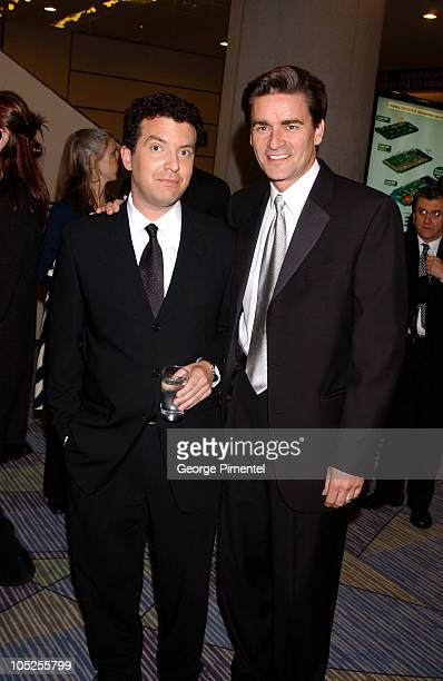 Rick Mercer and Peter Keleghan during 2003 18th Annual Gemini Awards - Pre Party at Metro Toronto Convention Centre in Toronto, Ontario, Canada.